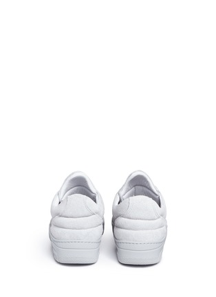 Back View - Click To Enlarge - Filling Pieces - 'Monotone Space' suede low top sneakers