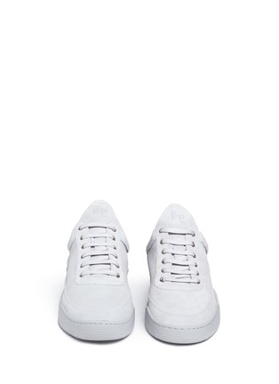 Front View - Click To Enlarge - Filling Pieces - 'Monotone Space' suede low top sneakers