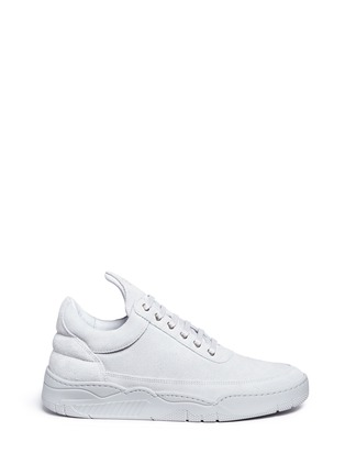 Main View - Click To Enlarge - Filling Pieces - 'Monotone Space' suede low top sneakers