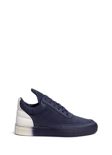 Filling Pieces'Low Top' colourblock suede sneakers