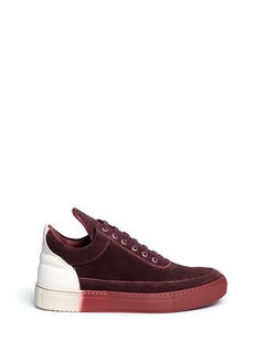 Filling Pieces 'Low Top' colourblock suede sneakers