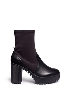 Ateljé 71'Alva' neoprene panel calfskin leather platform boots