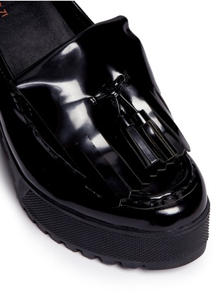 Detail View - Click To Enlarge - Ateljé 71 - 'Anja' patent box calf leather platform loafers