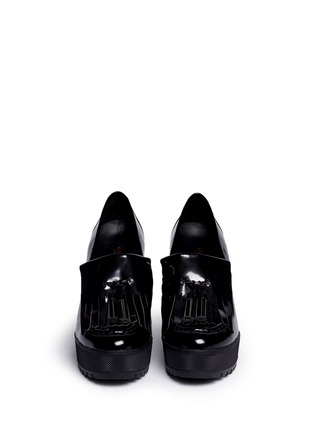 Front View - Click To Enlarge - Ateljé 71 - 'Anja' patent box calf leather platform loafers