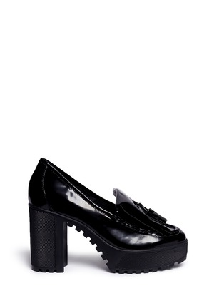 Main View - Click To Enlarge - Ateljé 71 - 'Anja' patent box calf leather platform loafers