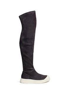 Ateljé 71 'Embla' stretch suede sneaker boots