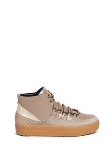 Ateljé 71 'Gabbi' high top mix leather sneakers