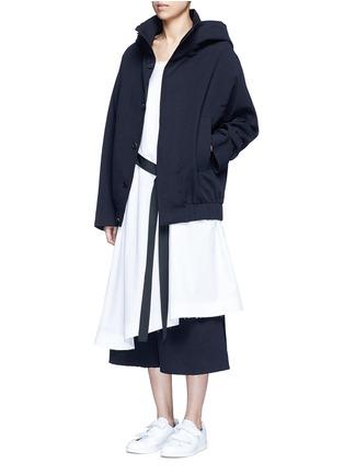 Figure View - Click To Enlarge - FFIXXED STUDIOS - Tie front cotton poplin dress