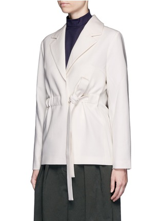 Front View - Click To Enlarge - FFIXXED STUDIOS - Tie waist wool blazer