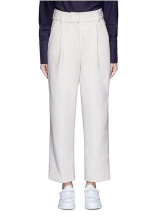 Main View - Click To Enlarge - FFIXXED STUDIOS - Pleated wide leg felted wool trousers