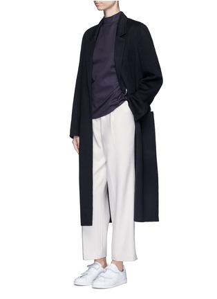 Figure View - Click To Enlarge - FFIXXED STUDIOS - Pleated wide leg felted wool trousers