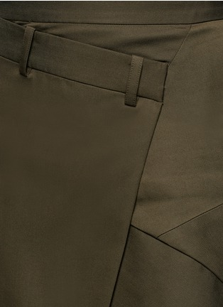 Detail View - Click To Enlarge - FFIXXED STUDIOS - 'Boundary' asymmetric mock wrap front skirt