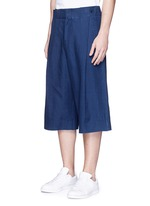 Cotton-tencel unisex culottes