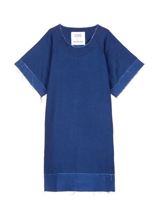 Main View - Click To Enlarge - FFIXXED STUDIOS - Frayed edge cotton-tencel unisex dress
