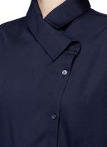 'Boundary' asymmetric button midi shirt dress