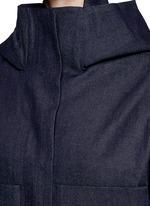 Hooded Japanese cotton denim bomber