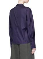 'Meiyijia' raw edged cotton poplin shirt