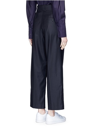 Back View - Click To Enlarge - FFIXXED STUDIOS - Pleated wide leg wool blend trousers