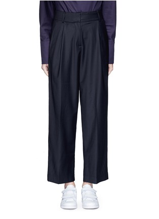 Main View - Click To Enlarge - FFIXXED STUDIOS - Pleated wide leg wool blend trousers