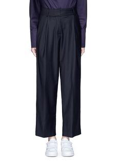 FFIXXED STUDIOSPleated wide leg wool blend trousers