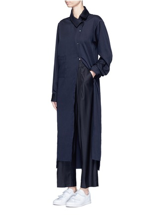 Figure View - Click To Enlarge - FFIXXED STUDIOS - Pleated wide leg wool blend trousers