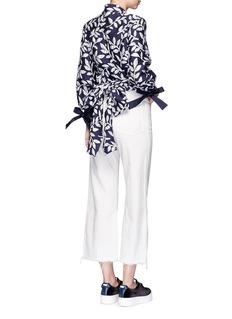 Angel ChenBishop sleeve jacquard kimono top