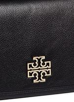 'Britten' cutout logo pebbled leather shoulder bag