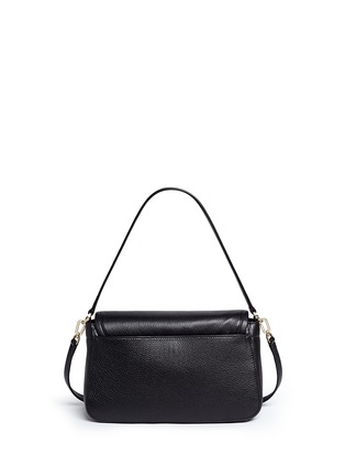 Back View - Click To Enlarge - Tory Burch - 'Britten' cutout logo pebbled leather shoulder bag