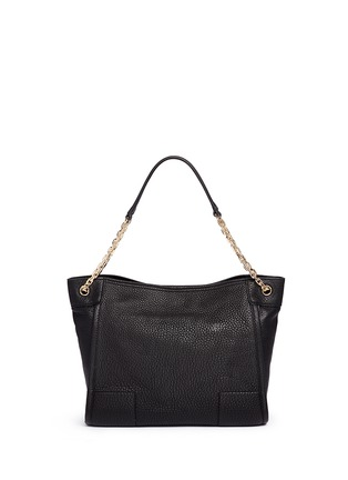 Back View - Click To Enlarge - Tory Burch - 'Britten' small pebbled leather chain tote