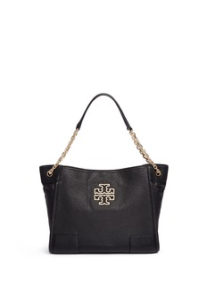 Tory Burch'Britten' small pebbled leather chain tote