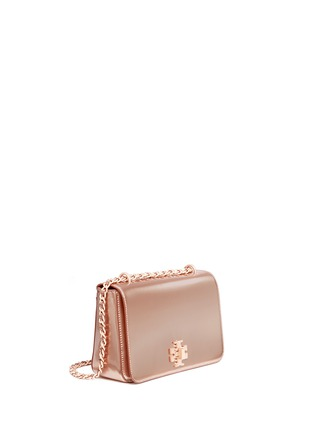 Front View - Click To Enlarge - Tory Burch - 'Mercer' adjustable metallic leather shoulder bag