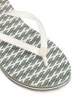 'Thin' Ravenna print flip flops