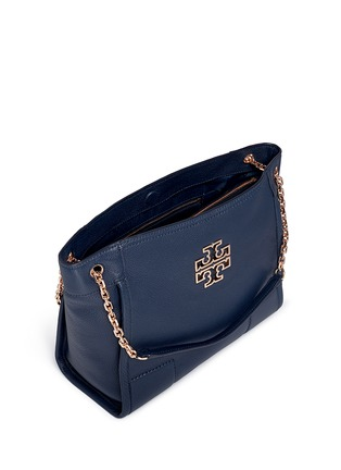 Detail View - Click To Enlarge - Tory Burch - 'Britten' small pebbled leather chain tote