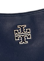 'Britten' small pebbled leather chain tote