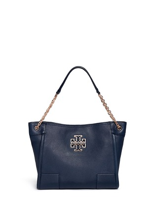 Main View - Click To Enlarge - Tory Burch - 'Britten' small pebbled leather chain tote
