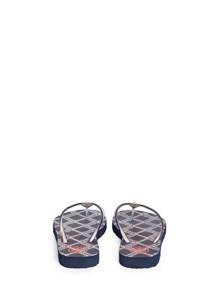 Back View - Click To Enlarge - Tory Burch - 'Thin' flamestitch print flip flops