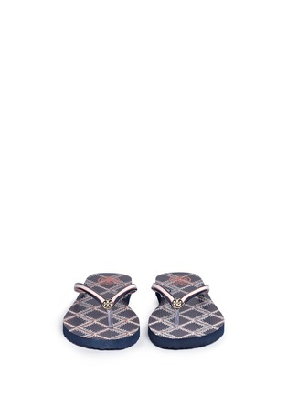 Front View - Click To Enlarge - Tory Burch - 'Thin' flamestitch print flip flops