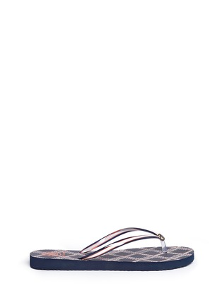 Main View - Click To Enlarge - Tory Burch - 'Thin' flamestitch print flip flops