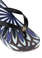 'Thandie' floral print wedge flip flops