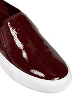 'Lennon' patent leather skate slip-ons