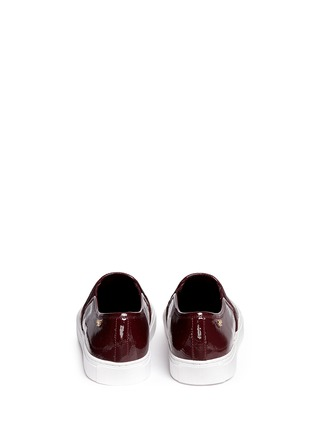Back View - Click To Enlarge - Tory Burch - 'Lennon' patent leather skate slip-ons