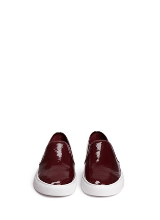 Front View - Click To Enlarge - Tory Burch - 'Lennon' patent leather skate slip-ons