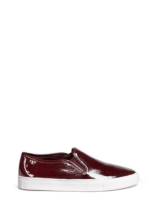 Main View - Click To Enlarge - Tory Burch - 'Lennon' patent leather skate slip-ons