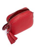 'Thea' pebbled leather crossbody tassel bag