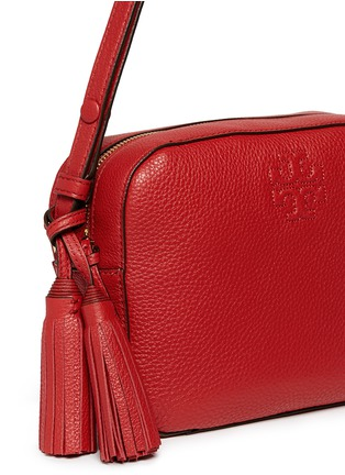 Detail View - Click To Enlarge - Tory Burch - 'Thea' pebbled leather crossbody tassel bag