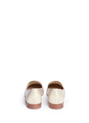 Back View - Click To Enlarge - Tory Burch - 'Dominique' patent leather loafers