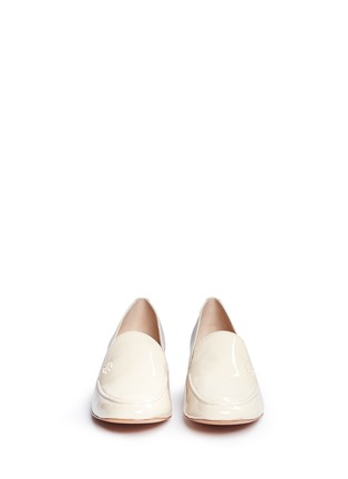 Front View - Click To Enlarge - Tory Burch - 'Dominique' patent leather loafers