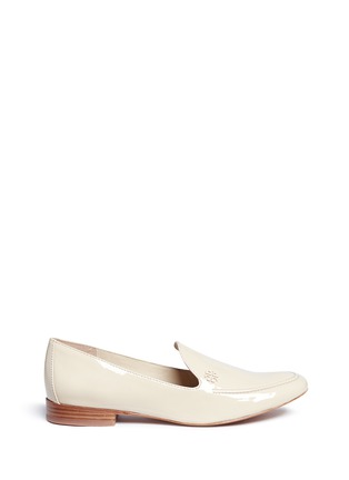 Main View - Click To Enlarge - Tory Burch - 'Dominique' patent leather loafers