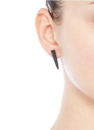 Eddie Borgo-Crystal pavé spike drop earrings