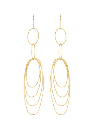 Main View - Click To Enlarge - Kenneth Jay Lane - Multi oval loop earrings